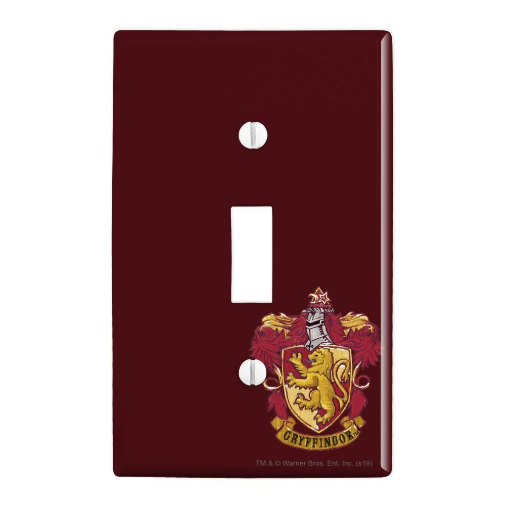 GRAPHICS & MORE Harry Potter Gryffindor Painted Crest Plastic Wall Decor Toggle Light Switch Plate Cover