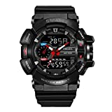 SMAEL Mens Smart Sports Watch S-Shock Military Watches LED Quartz Dual Display Outdoor