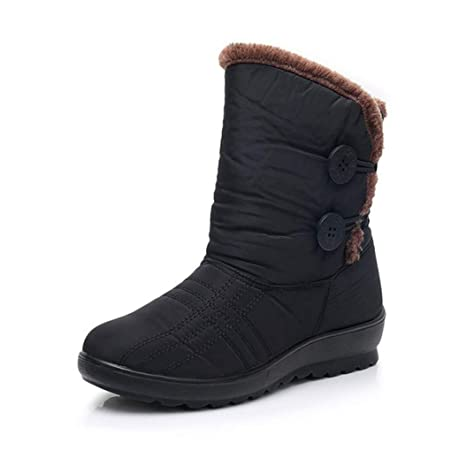5e1dd59aa32 Image Unavailable. Image not available for. Color  Kyle Walsh Pa Women  Boots Winter Warm Fur Female Ankle Booties Non-Slip Waterproof Snow