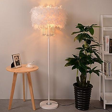 JINSHUL Lámpara de Plumas en Vivo decoración lámpara de Mesa ...