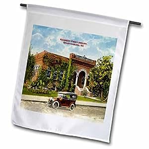 Sandy Mertens Carolina del Sur–Kennedy libre biblioteca, Spartanburg, SC (Vintage)–banderas