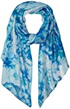 Calvin Klein Women's Abstract Floral Liquid Lurex Scarf, Sea Glass, One Size