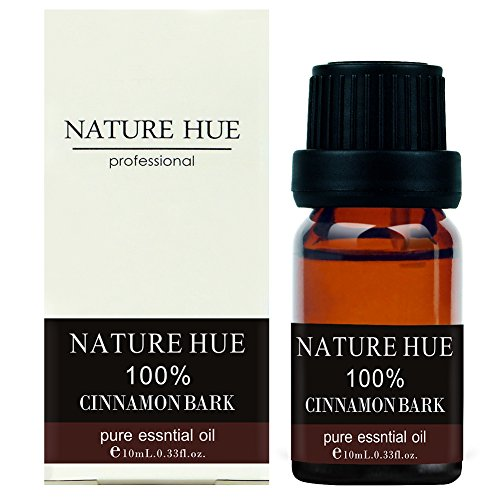 Nature Hue - Cinnamon Bark Essential Oil 10 ml, 100% Pure Therapeutic Grade, Undiluted - Bark Glass