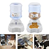 Blessed family Cat Water Fountain - Automatic Cat Feeder - Dog Water Dispenser - 1 Gal Pet Automatic Feeder Waterer By (Pet Self Waterers+feeder)
