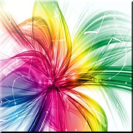 Rikki Knight Rainbow Spotlights Design Ceramic Art Tile 8 x 8