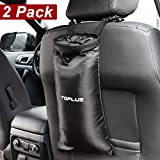 """Automotive : Toplus 2 PACK Extra Large Car Trash Bags, 17.3"""" x 8.7"""" Car Trash Can Washable Leakproof Eco-friendly Seatback Truck Hanging Car Garbage Bags for Travelling, Outdoor, Home and Vehicle Use - Black"""