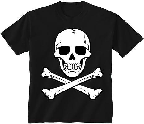 Youth para niños diseño de calavera y de calavera Pirata T-camiseta de manga corta: Amazon.es: Ropa y accesorios