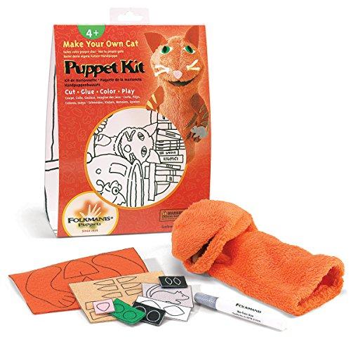 Folkmanis Cat Hand Puppet Craft Kit - Hand Puppets Folkmanis Cat