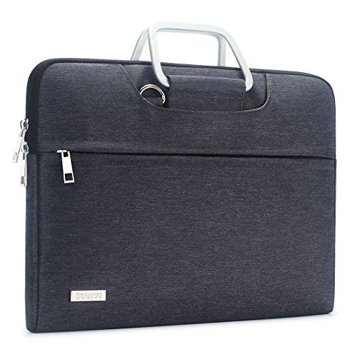 DOMISO Water Resistant Shoulder Bag Sleeve Carry Case for 14 Inch Laptops / 13.5
