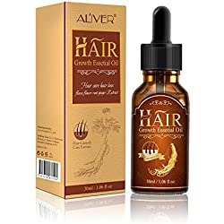 Hair Growth Essential Oil Fleeceflower Root Ginger Extract Hair Care Serum Stops Hair Loss Promotes Hair Regrowth Topical Treatment for Thinning Hair for Women & Men