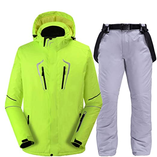 Traje De Esquí Traje De Hombre, Pantalones De Esquí De Doble ...