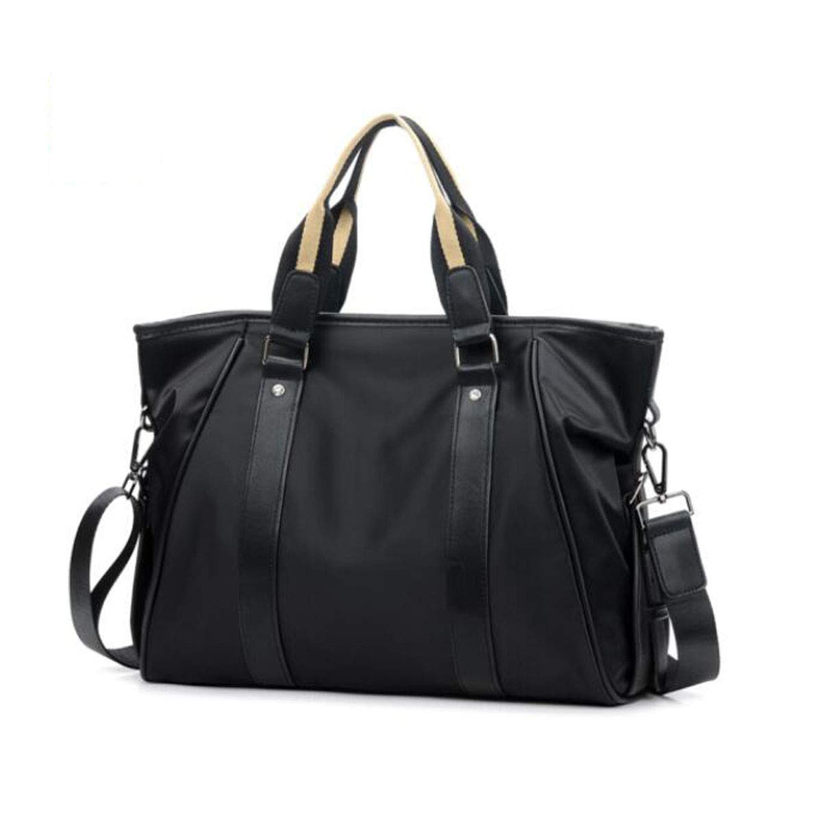 Size: 37830cm Wear Resistant Qiaoxianpo01 Briefcase Black and Blue Color : Blue New Portable Mens Business Tote
