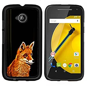 LECELL--Funda protectora / Cubierta / Piel For Motorola Moto E2 E2nd Gen -- Fox Red Ginger animal de piel del Bosque Cunning Fairytale --