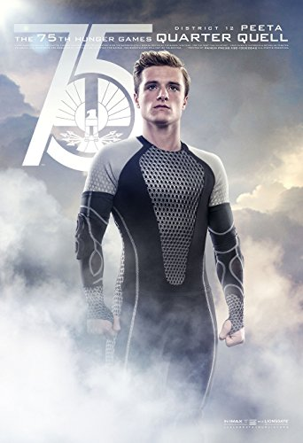The Hunger Games 2 : Catching Fire (2013) - Peeta Quarter - 13 in x 19 in Movie Poster Flyer BORDERLESS + Free 1 Tile Magnet