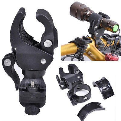 WZYuan Universal Bike Bicycle Flashlight Lamp Mount Clamp Stand Holder (Bike Handlebar Flashlight)