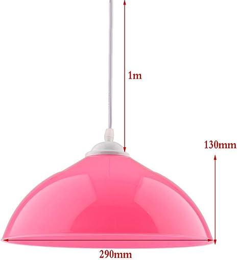 SQWK Semi-circular Luz de techo Cubierta de pantalla Colgante Accesorio de pantalla 130x290 mm Rosa: Amazon.es: Iluminación
