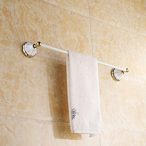 (YSMAGSI Antique Country Towel Rack Roast White Gold White Continental Bathroom Accessories Bathroom Hardware Bathroom Towel Bar 61090mm)