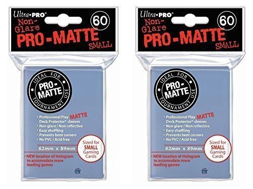 120 Ultra Pro Clear SMALL PRO-MATTE Deck Protectors Sleeves Colors Yugioh Vanguard [2 Packs of 60]