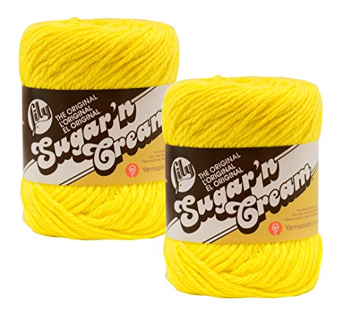 Bulk Buy: Lily Sugar 'n Cream 100% Cotton Yarn (2-Pack) ((Sunshine #0073) - Worsted Shine Yarn