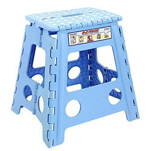 Maddott Super Strong Folding Step Stool for Adults and Kids,11x8.5x15inch, Holds up to 250 Lb, Blue 15' Toilet