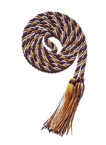 (Graduation Honor Cord Three-color Braided Grad Days (gold white purple))