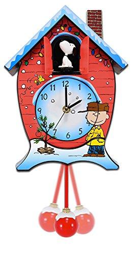 Mark Feldstein CKPNX Peanuts Christmas Cuckoo (Mantel Cuckoo Clock)