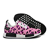 YHFJYT Breathable Mesh Plate Shoes Pink Leopard Fashion Sports Shoes