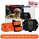 FunAce Invisible Wired Dog Fence Rechargeable and Waterproof Pet Containment System for 2 Dogs