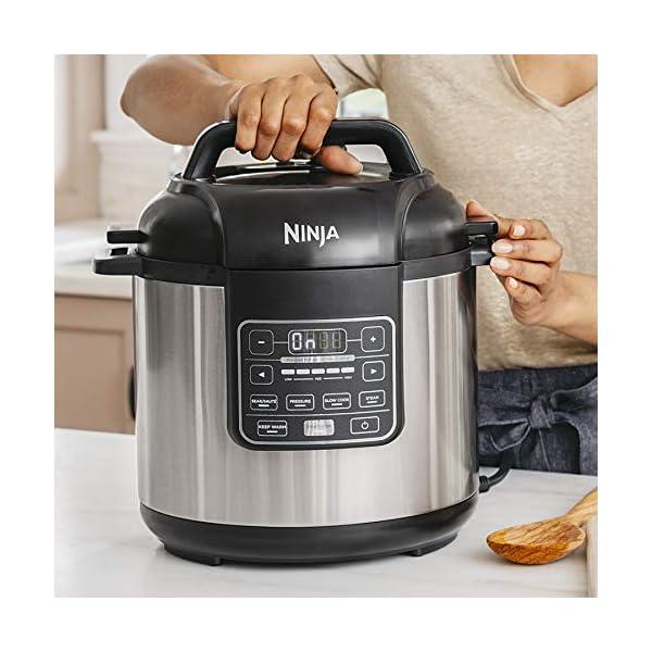 Ninja Instant, 1000-Watt Pressure, Slow, Multi Cooker, and Steamer with 6-Quart Ceramic Coated Pot & Steam Rack (PC101… 2