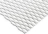 Online Metal Supply Steel Expanded Metal, Galvanized, Flattened Sheet 1/2#16.050'' x 24'' x 36''