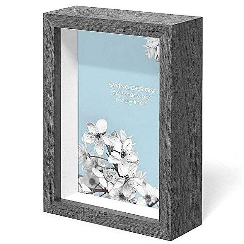 Swing Design Chroma Shadow Box Frame, 5 by 7-Inch, Charcoal Gray]()