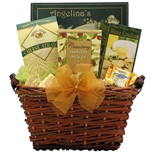 GreatArrivals Christmas Holiday Gift Basket: Premier Holiday Gourmet - Green & Gold (Christmas Cheese Gift Baskets)