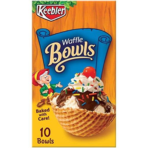 Keebler Cones, Ice Cream Waffle Bowls, 4 oz (10 Count) by Keebler Cones