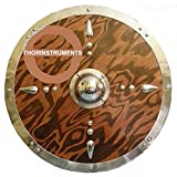 THORINSTRUMENTS Viking Armor Medieval Wooden Shield reenactment Costume Battle Shield