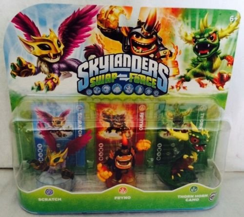 Skylanders SWAP Force Triple Character Pack: Scratch/Fryno/Thorn Horn Camo