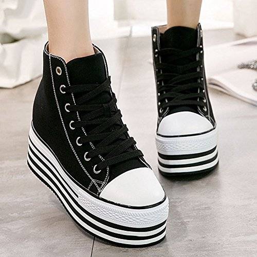Thick The Thick The Shoes Korean Shoes KPHY Autumn five Shoes Canvas The Women'S Thirty Of Version Increase Air BwAqFPdWFS
