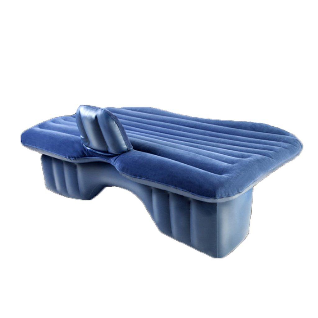 車のインフレータブルベッドエアクッション車の車マットレスSuvの車のベッド車の排気排気ベッド B07F8V4CDP Blue Blue