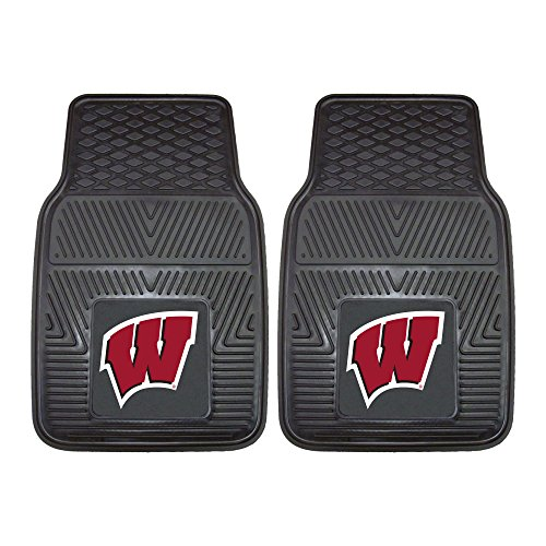 FANMATS NCAA University of Wisconsin Badgers Vinyl Heavy Duty Car (Wisconsin Badgers Mat)