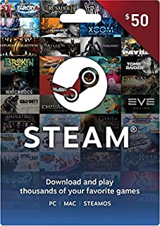 Steam Gift Card - $50 (B00HJBPZK8) | Amazon price tracker / tracking, Amazon price history charts, Amazon price watches, Amazon price drop alerts