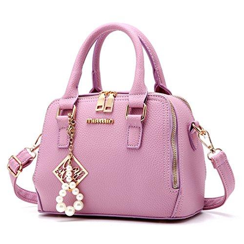 Bandolera Por De 12 Handbag Mano l w Sa Sweet Moda X Pu Morado Mujer 16 22 h Totes Bolsos Wewod Cm Cuero Diseñado nTvFWp8