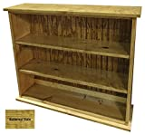 Sawdust City Solid Wood Hall Bookcase (Butternut Stain)