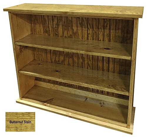 Cheap  Sawdust City Solid Wood Hall Bookcase (Butternut Stain)