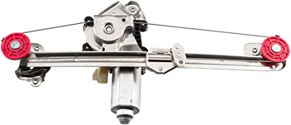 LUJUNTEC 741-167 Rear Right Passengers Side Replacement Power Window Regulator with Motor fit for 2004-2005 Chevy Classic 1997-2003 Chevy Malibu 1997-1999 Olds Cutlass 15223281