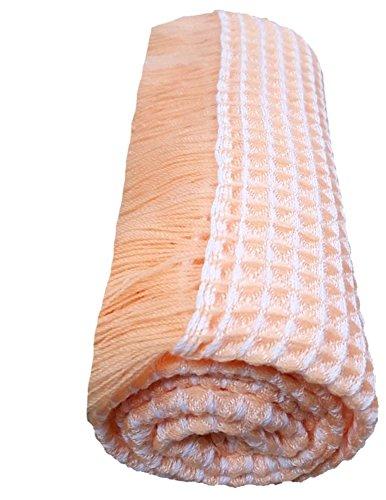 BRANDONN Newborn Fluffy Acrylic Woolen Handloom All Season Baby Shawl Cum Wrapping Sheet(Beige)
