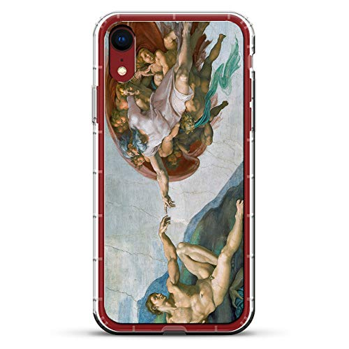 - CREATION OF ADAM PAINTING IMAGE | Luxendary Air Series Clear Silicone Case with 3D printed design and Air-Pocket Cushion Bumper for iPhone XR (new 2018/2019 model with 6.1
