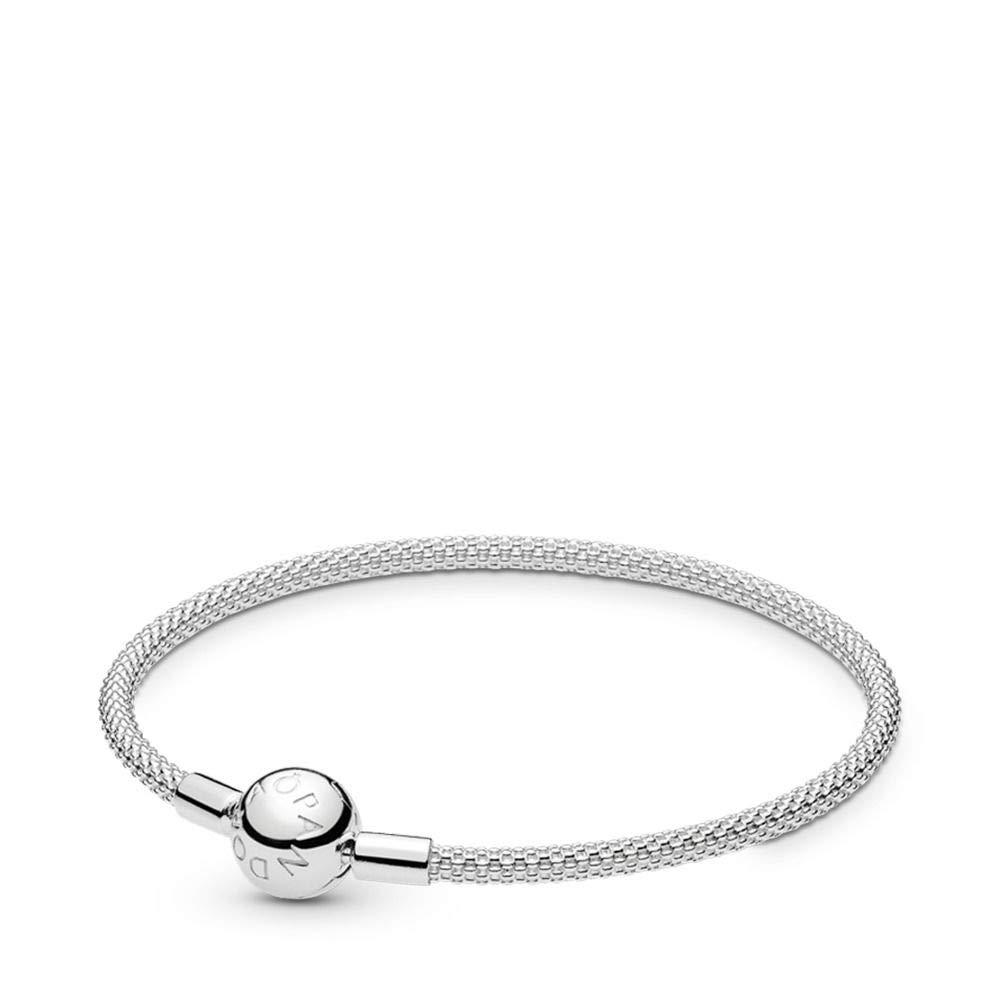 PANDORA Sterling Silver Mesh Bracelet, 6.7 IN
