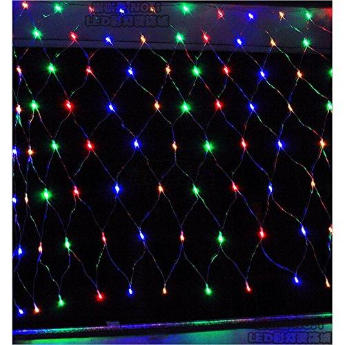 LTNT Filet Lumineux,Led Net light,Guirlande De Lumières De Noël,Fée Moustiquaires lighte,120perle De lighte,Décoration De Rideau