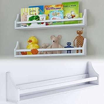 amazon com one stylish white baby nursery room wall shelf sturdy rh amazon com Floating Wall Shelves wall shelf for baby room
