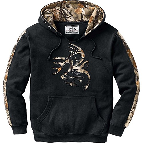 Legendary Whitetails Mens Outfitter Hoodie Onyx Large Tall