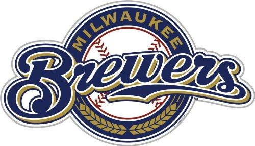 MLB Milwaukee Brewers 12-Inch Vinyl Logo Magnet (Car Milwaukee Brewers Mlb)